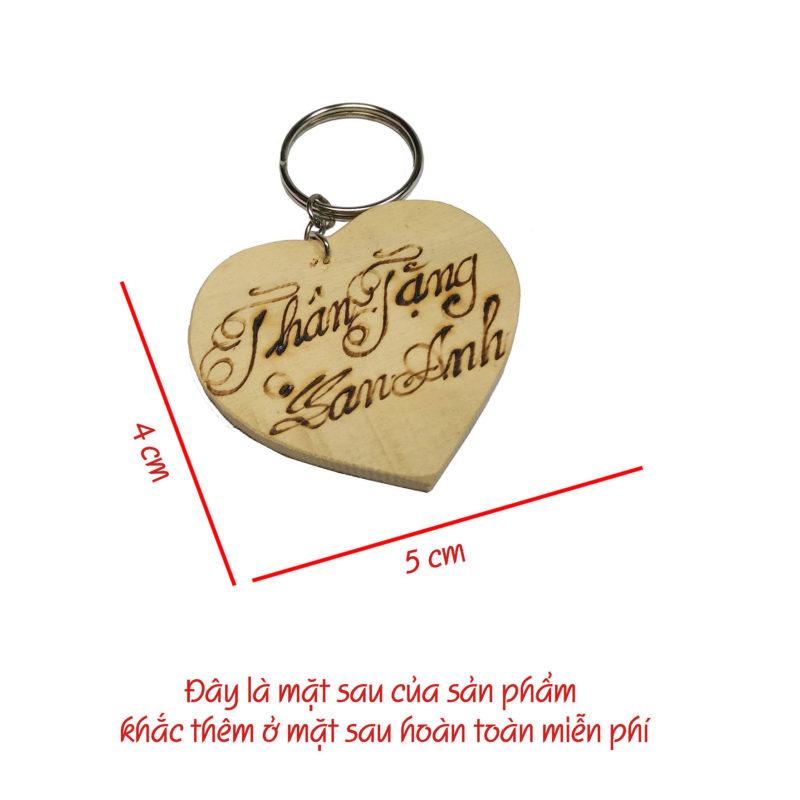 móc khóa gỗ khắc chữ