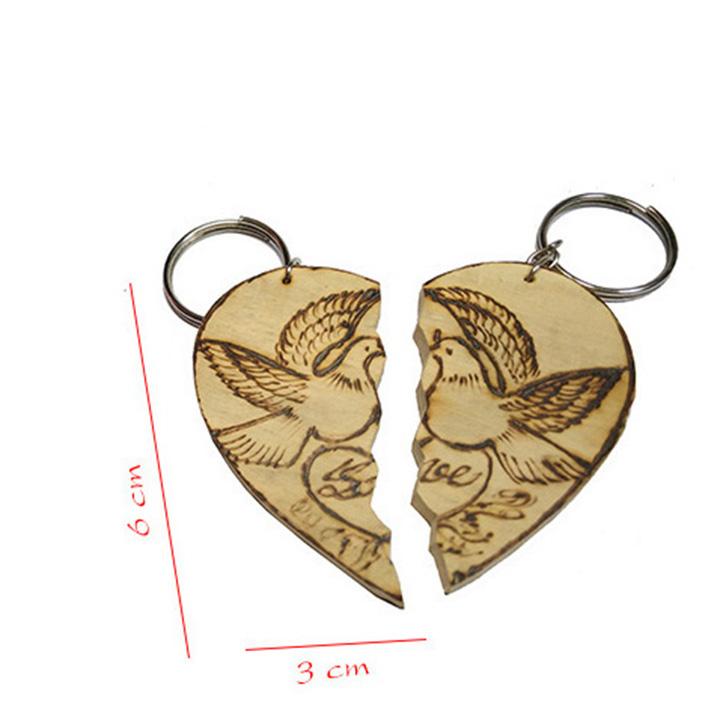 móc khóa gỗ cặp đôi tình yêu