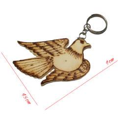 móc khóa gỗ hình chim bồ câu