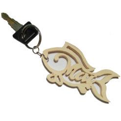 móc khóa hình con cá tên mai
