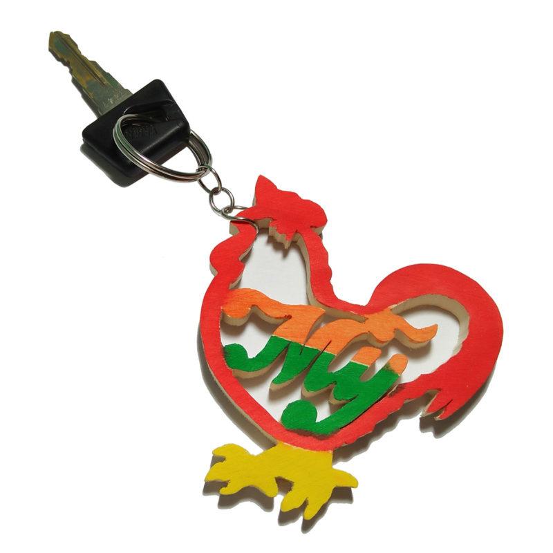 móc khóa hình con gà