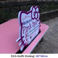 bảng in tên shop hình mèo kitty
