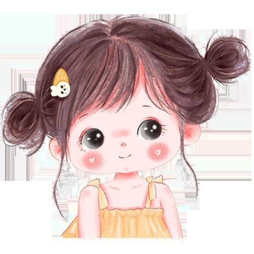 avatar dễ thương hình bé gái